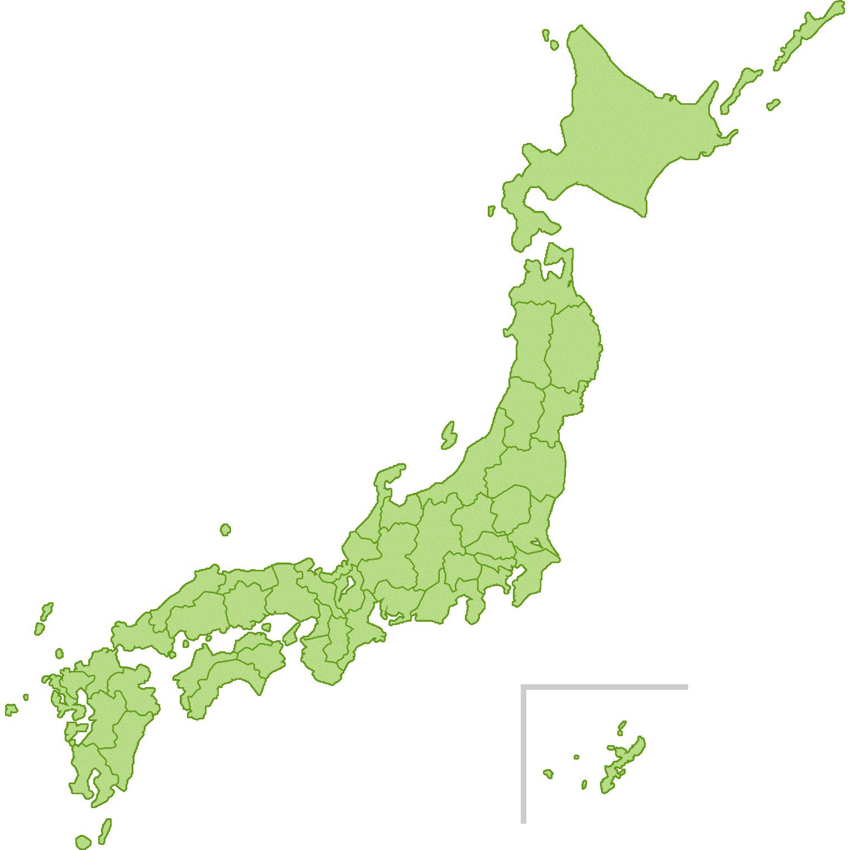 日本地図緑