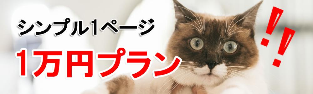 シンプル1ぺージ1万円プラン